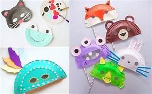 Fabriquer Un Personnage En Carton : 10 id es de masques faire avec des assiettes en carton ~ Zukunftsfamilie.com Idées de Décoration
