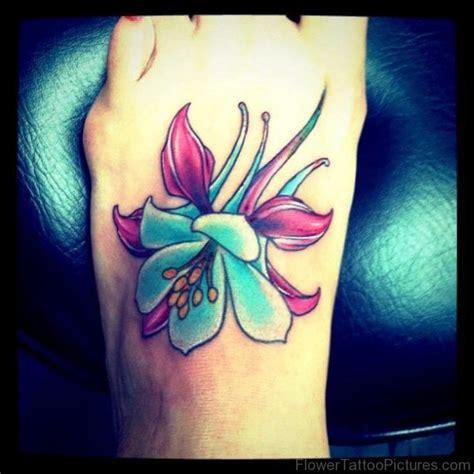 columbine flower tattoos