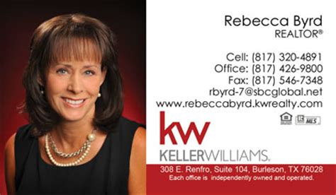 keller williams business cards  professionally