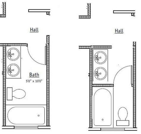 Comments Needed 5x10 Shared Bath, Which Option?