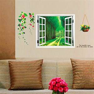 Diy home decoration repositionable d window ry self