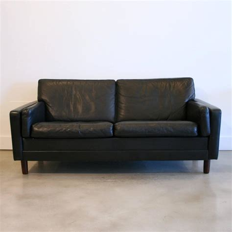 Black Sofa Covers Canada by Vintage Black Leather Sofa At 1stdibs