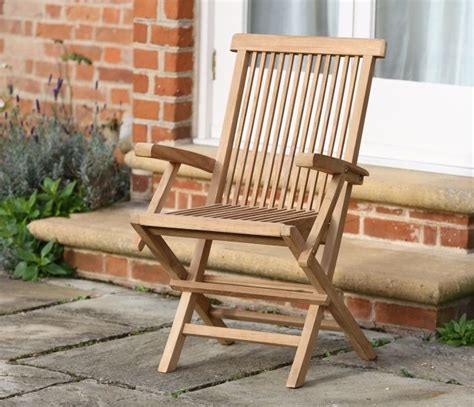 sussex folding armchair teak garden furniture jo alexander