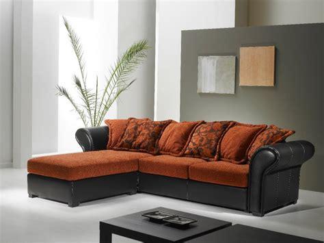 Canape Cuir Et Tissu Maison Canapé Cuir Et Tissu D 39 Angle Canapé Idées De