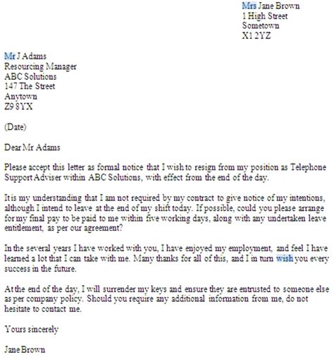 notice letter  uk