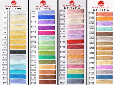 types of colors natvarlal morarji jariwala products metallic yarn zari