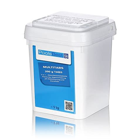 chlor multitabs test 5 kg poolsbest 174 chlor multitabs 5in1 200g tabs