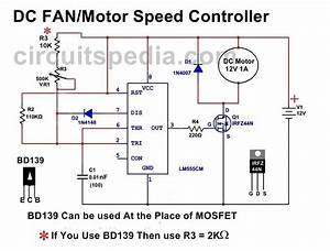 12v Dc Fan Motor Speed Controller Circuit Diagram  Dc Fan