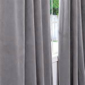 exclusive fabrics and furnishings silver grey velvet blackout curtain panel panels drapes