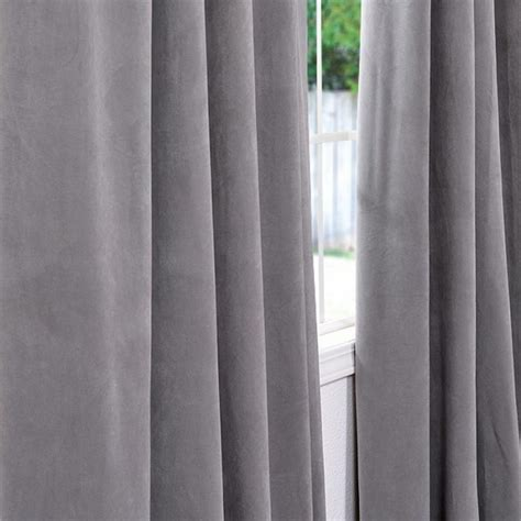 gray blackout curtains space living silver grey velvet blackout curtain panel