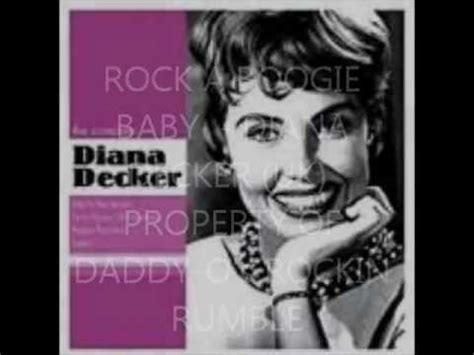 Rock A Boogie Baby  Diana Decker (50's Uk)wmv Youtube