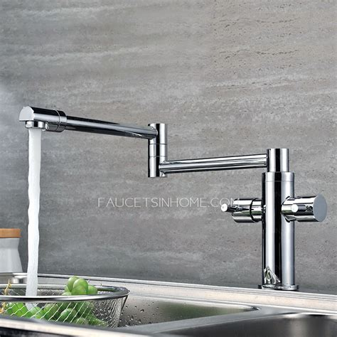 high end kitchen faucet high end copper rotatable folding kitchen pot filler faucets