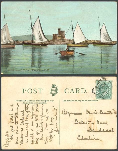 Boat Prices To Isle Of Man by Isle Of Man 1904 Old Postcard Tower Of Refuge Douglas