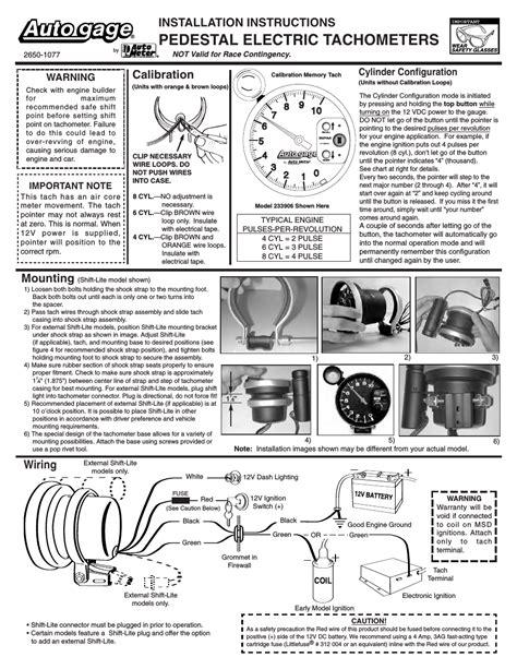 auto meter memory tach wiring wiring diagram schemes