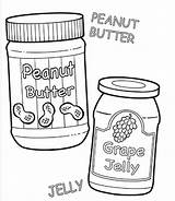 Peanut Butter Coloring Jelly Pages Template Panut Clipartbest Getdrawings Templates Sketch sketch template