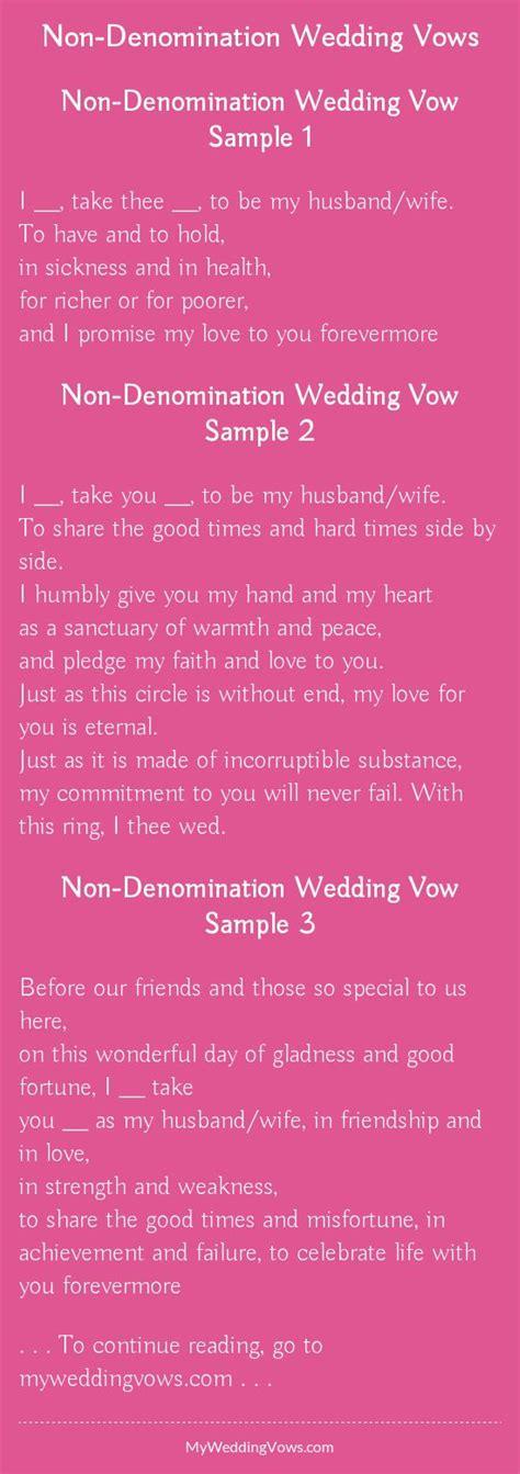 denomination wedding vows   wedding ideas
