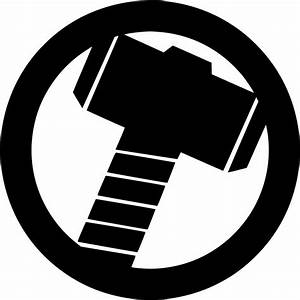 Thor's Hammer Die cut Vinyl Decal - Oracal Logo Car Window ...