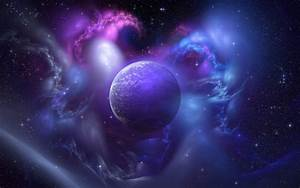 Galaxy Purple Planet Wallpaper for Android - Android Live ...