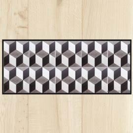 Tapis Pvc Carreaux De Ciment : gallery of tapis de cuisine carreaux ciment gomtrique with tapis lino imitation carreaux de ciment ~ Teatrodelosmanantiales.com Idées de Décoration