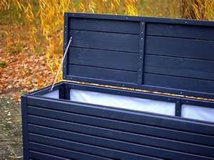 Holz Farbe Anthrazit : auflagenbox kissenbox holz farbe deckend ge lt anthrazit grau atmungsaktiv wasserdicht ~ Orissabook.com Haus und Dekorationen
