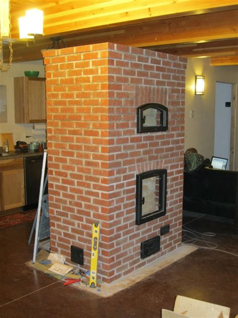 acres   dog masonry heater facing