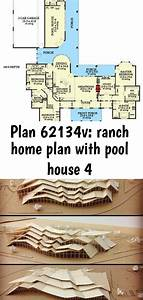 Plan, 62134v, Ranch, Home, Plan, With, Pool, House, 4