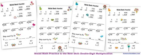 Learning The Multiplication Tables (2s Through 9s)  Homeschool Den