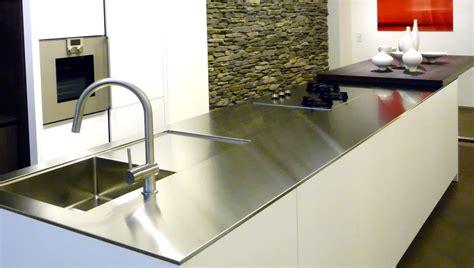 plan de travail cuisine avec evier integre les plans de travail en inox de 12 mm à 20 mm d épaisseur sur mesure so inox