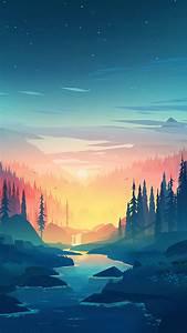 wallpaper, forest, , sunset, , artwork, , 4k, , art, , 20035