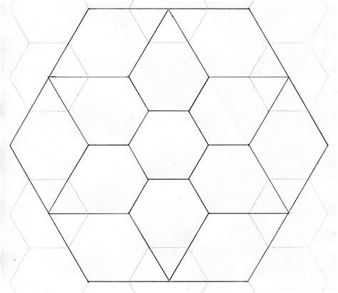 Free Paper Piecing Hexagon Templates by Paper Piecing Template Template
