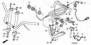 Honda Atv 2012 Oem Parts Diagram For Handlebar