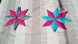 Faire Des Origami : hd tuto faire une toile en origami make an origami star youtube ~ Nature-et-papiers.com Idées de Décoration