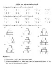 Math Adding and Subtracting Fractions Worksheet