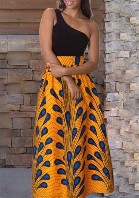 jupe longue plume motif fluide culotte haute mode africaine femme jaune jupes bas