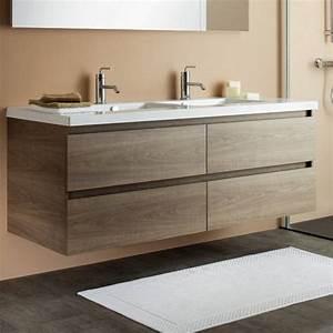 Meuble De Salle De Bain Double Vasque : meuble salle de bain bois sanijura meuble salle de bain 120 cm ~ Teatrodelosmanantiales.com Idées de Décoration