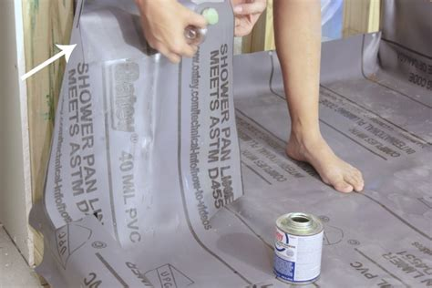 How To Install Shower Liner - installing a pvc shower liner the space between