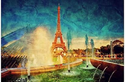 Eiffel Paris Tower Fountain France Source Wall