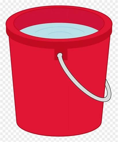 Bucket Water Clipart Vector Pail Transparent Clip