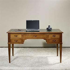 Bureau De Style : bureau ministre 5 tiroirs en merisier massif de style directoire meuble en merisier ~ Teatrodelosmanantiales.com Idées de Décoration