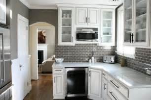 Backsplash Subway Tile For Kitchen Gray Subway Tile Backsplash Design Ideas