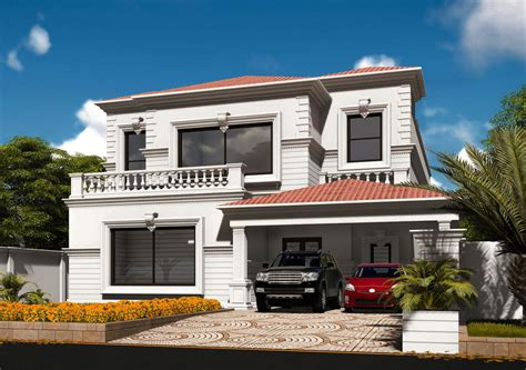 home design consultant 1 kanal colonial design house at phase 6 dha by