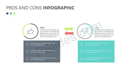 pros and cons infographic pslides