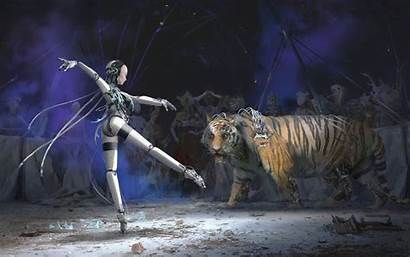 Circus Cyberpunk Tiger 2077 Cyborg Dance Choo