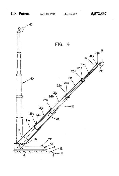 Patent US5572837 - Pneumatic telescoping mast - Google Patents