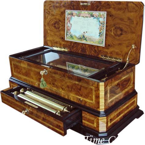 We are currently introducing it to some of the likely interested collectors. Magnificent Cartel Interchangeable Cylinder Music Box - REUGE_- SOLD on Ruby Lane