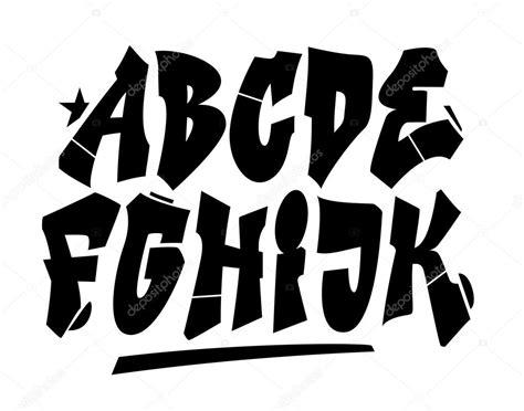 Graffiti Vector Font : Graffiti Style Font. Vector Alphabet (part 1)