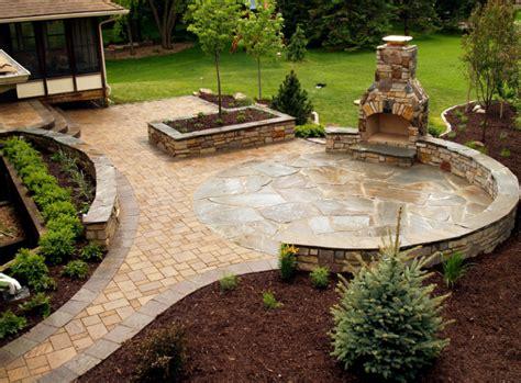 stone patio ideas   backyard home