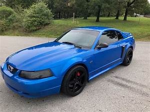 4th gen blue 2000 Ford Mustang GT V8 5spd manual [SOLD] - MustangCarPlace