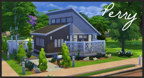 of sims 4 house building small modernity perry small modern home by baronesstrash at mod the sims Best