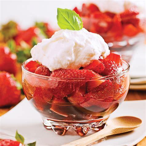 dessert fraise et mascarpone fraises au vinaigre balsamique et cr 232 me de mascarpone desserts recettes 5 15 recettes